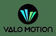 Valo Motion logo white background